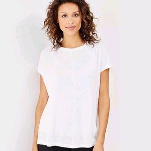 J.jill white linen & modal easy tee